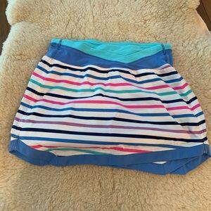 Ivivva Girls Striped Match Skirt Skort Size 14